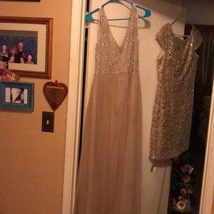 2 party or formal dresses. The same designer